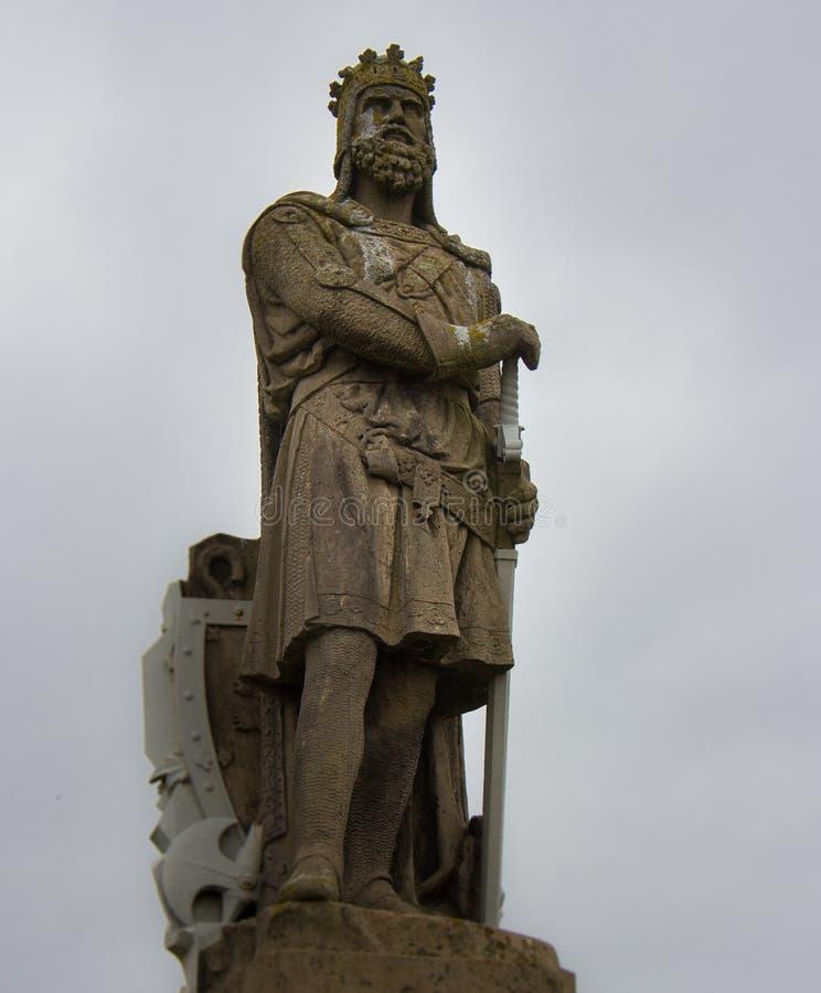 Estátua de Robert o Bruce em Stirling Castle imagens de stock