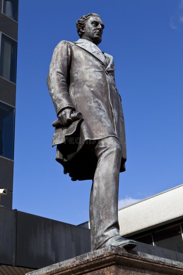 Estátua de Robert Stephenson na estação de Euston imagem de stock royalty free