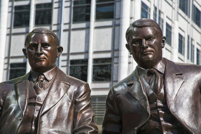 Estátua de Rochester dos irmãos de Mayo Clinic imagem de stock