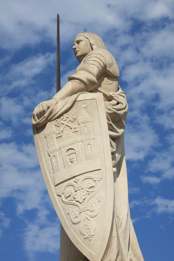Estátua de Roland fotografia de stock
