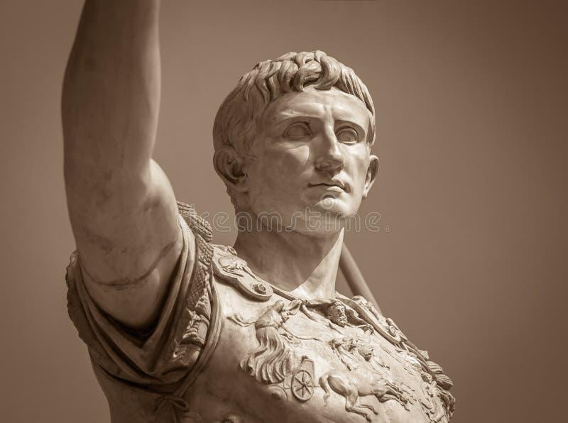 Estátua de Roman Emperor Augustus fotografia de stock