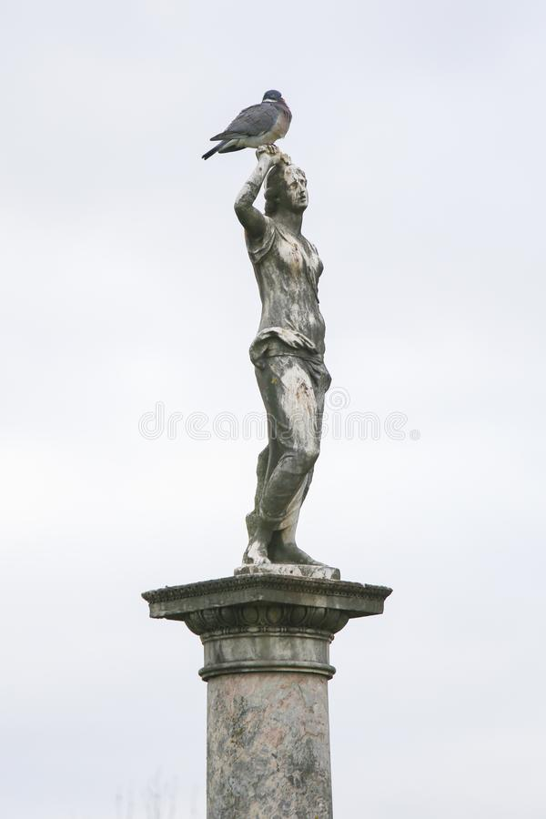 Estátua de Roman Goddess Venus no Jardin du Luxemburgo, Paris, França fotos de stock royalty free