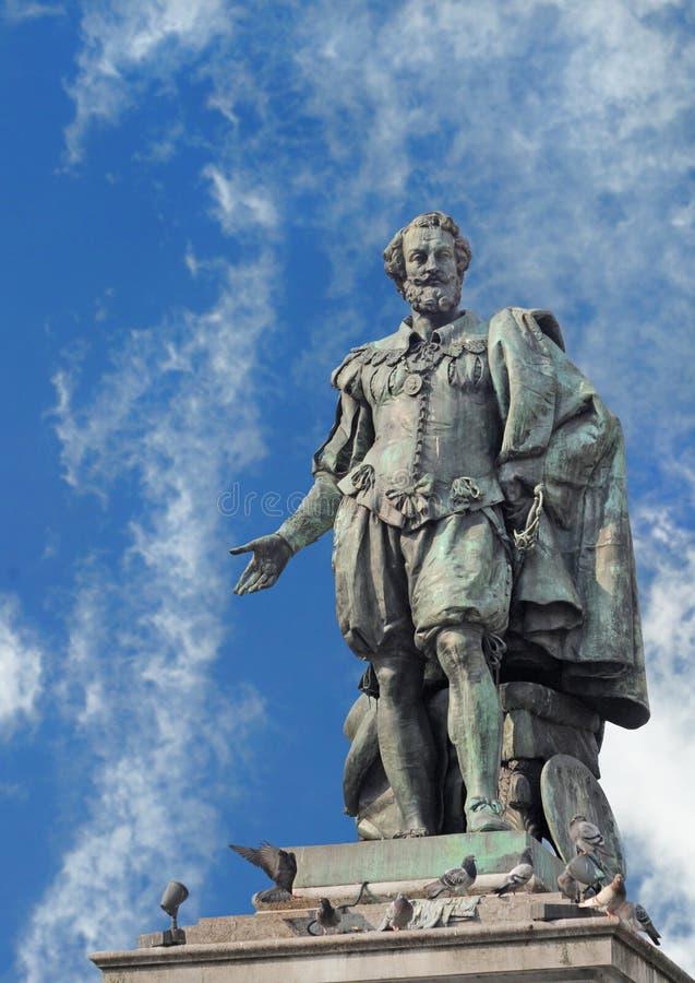 Estátua de Rubens imagens de stock