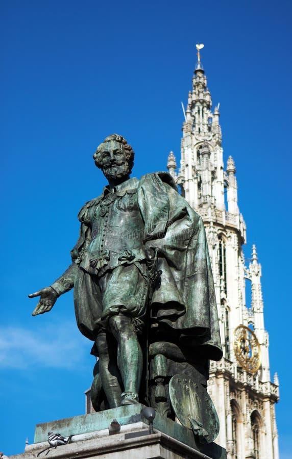 Estátua de Rubens fotos de stock royalty free