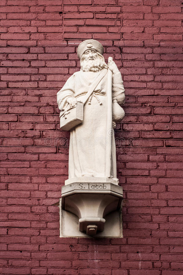Estátua de Saint Jacob foto de stock