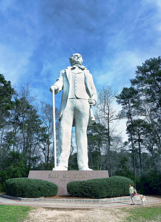 Estátua de Sam Houston foto de stock