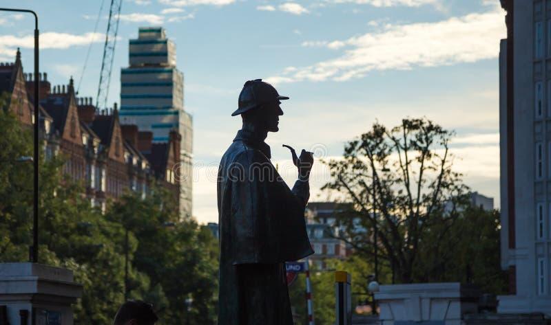 Estátua de Sherlock Holmes fotos de stock