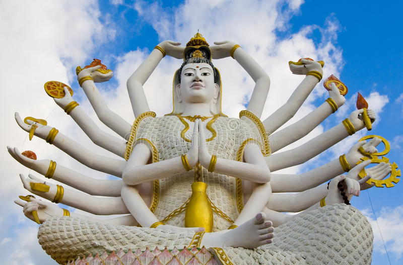 Estátua de Shiva no samui do koh fotografia de stock