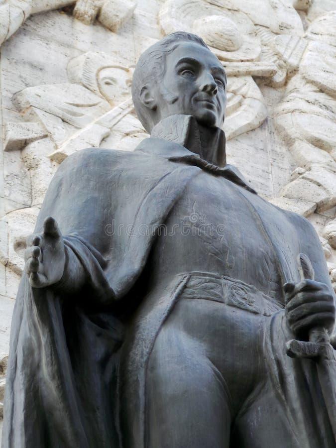 Estátua de Simon Bolivar, monumento da independência, Los Proceres, Caracas, Venezuela fotografia de stock