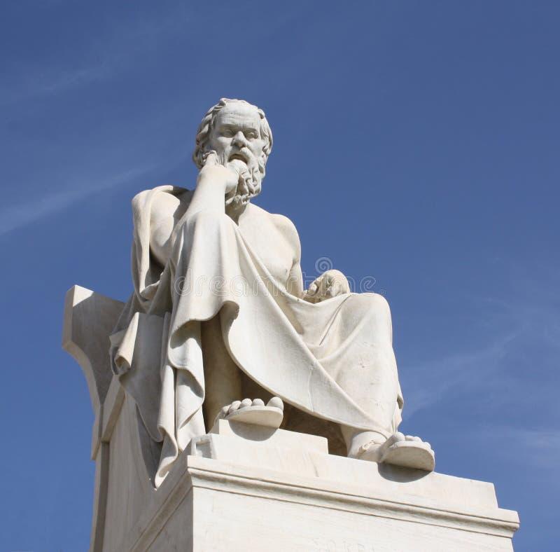 Estátua de Socrates em Atenas, Greece foto de stock