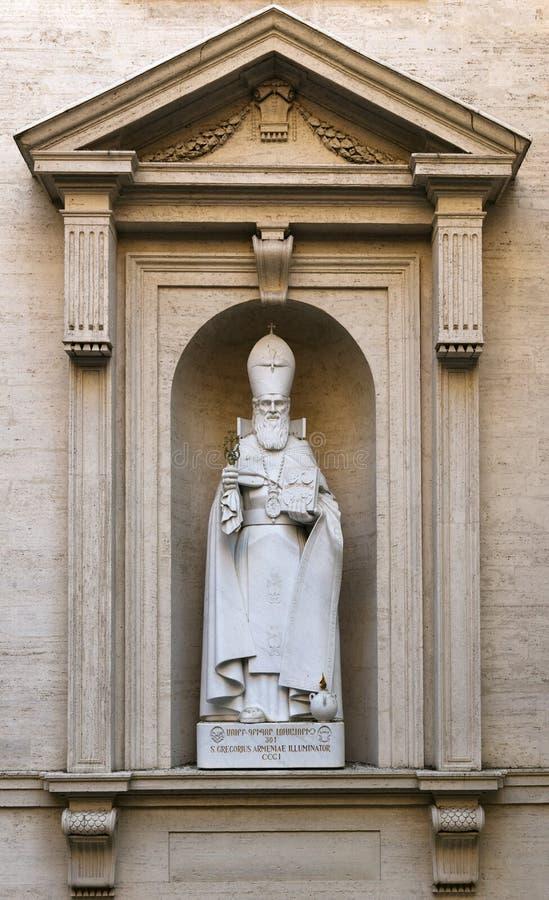 Estátua de St Gregory o iluminador Armenian foto de stock royalty free