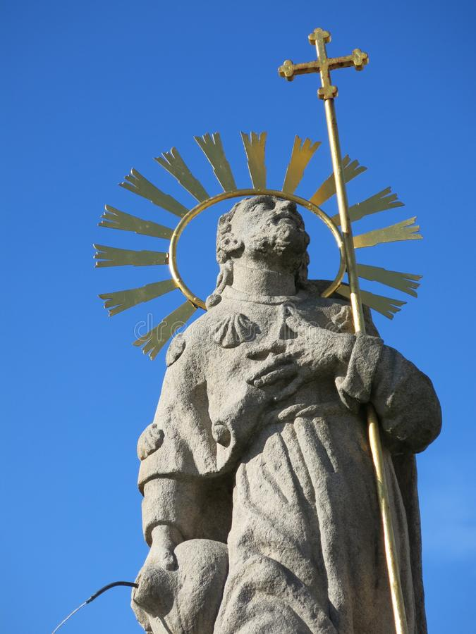Estátua de St James em Pelhrimov República Checa fotos de stock royalty free