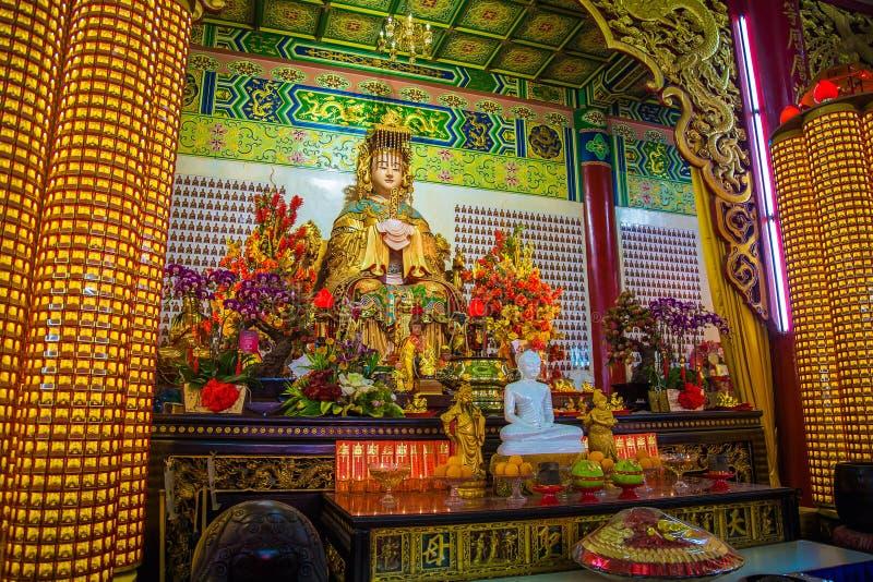 Estátua de Thean Hou da deusa fotografia de stock