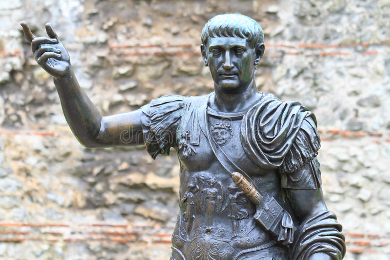 Estátua de Trajan foto de stock royalty free