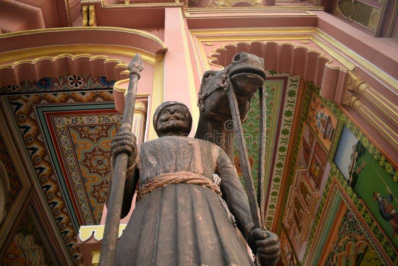 Estátua de um guerreiro fotografia de stock royalty free