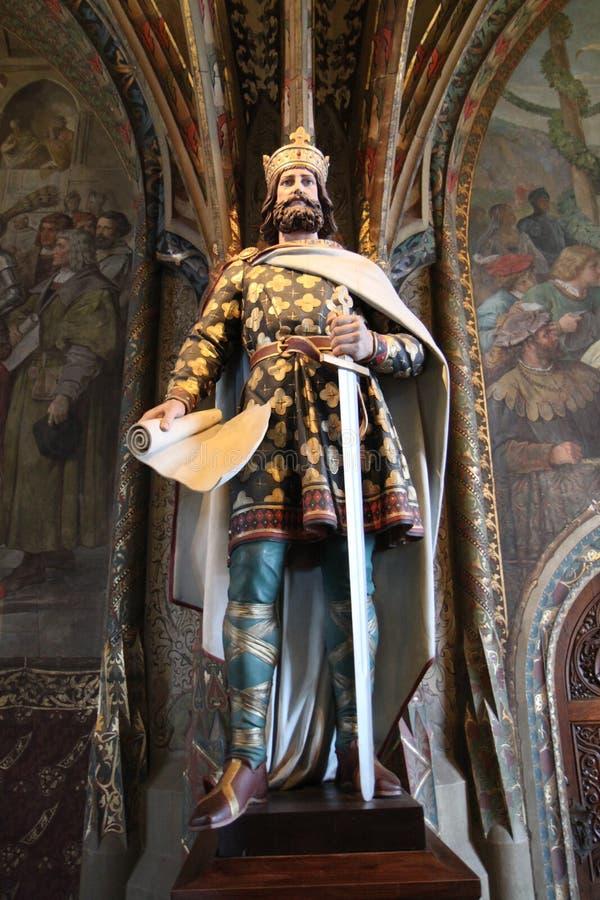 Estátua de um rei em Alemanha imagem de stock royalty free