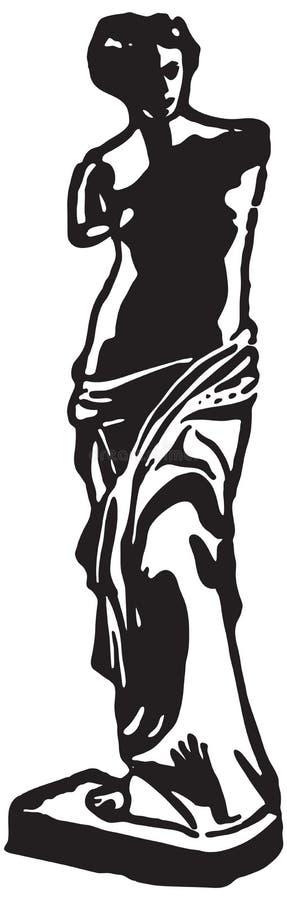 Estátua de Venus de Milo ilustração stock