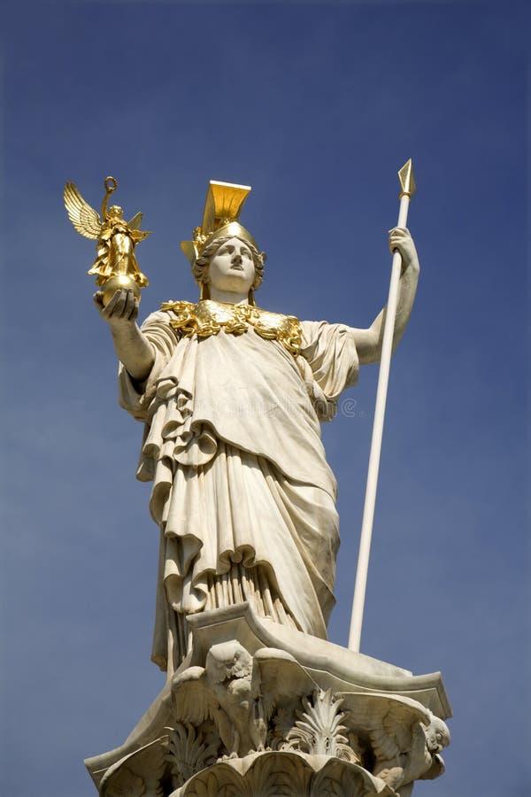 Estátua de Viena - de Athena da fonte fotos de stock