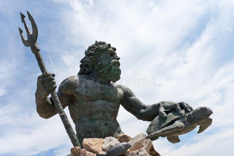 Estátua de Virginia Beach Netpune imagem de stock royalty free