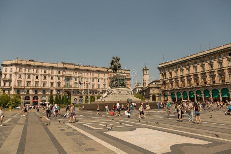 Estátua de Vittorio Emanuele II imagem de stock royalty free