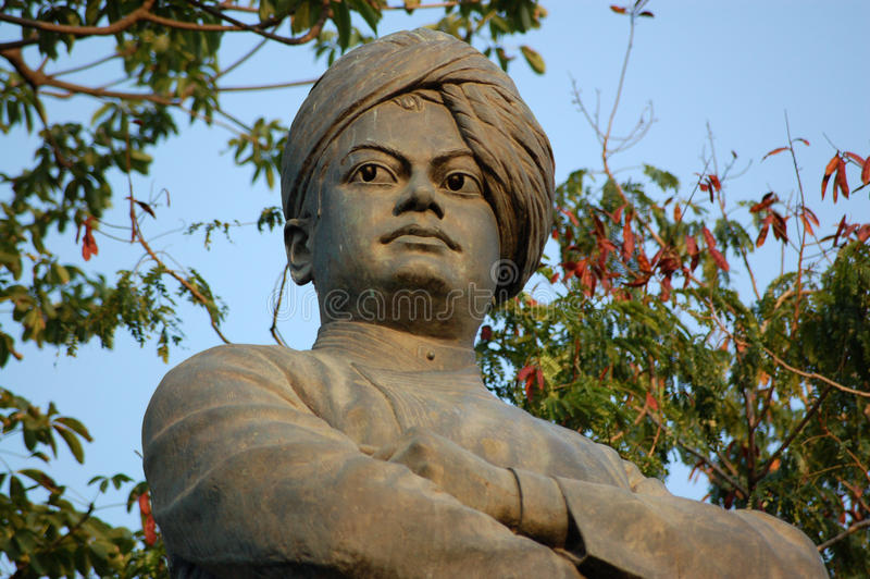 Estátua de Vivekananda do Swami, Mumbai fotografia de stock