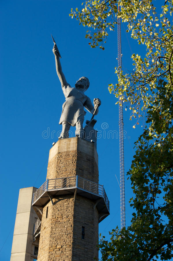 Estátua de Vulcan imagens de stock royalty free