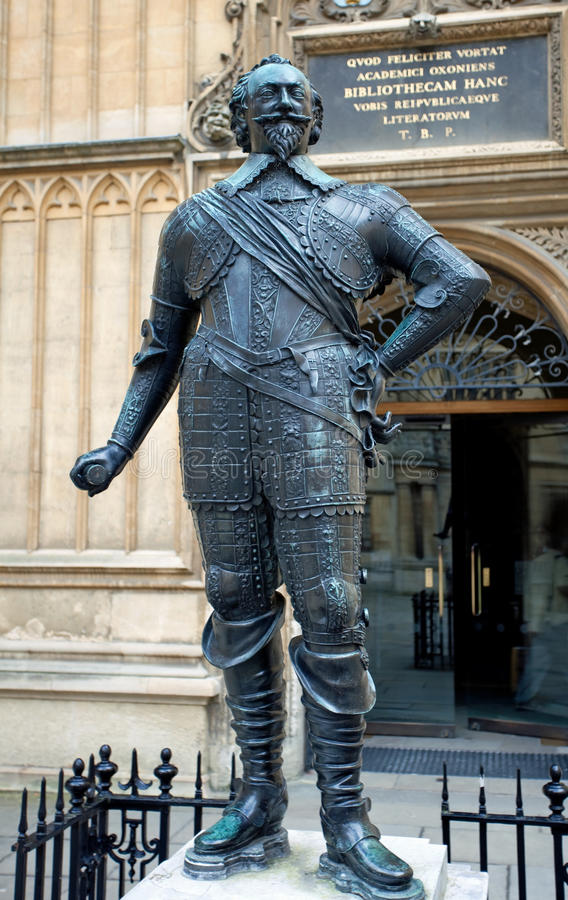 Estátua de William Herbert imagens de stock