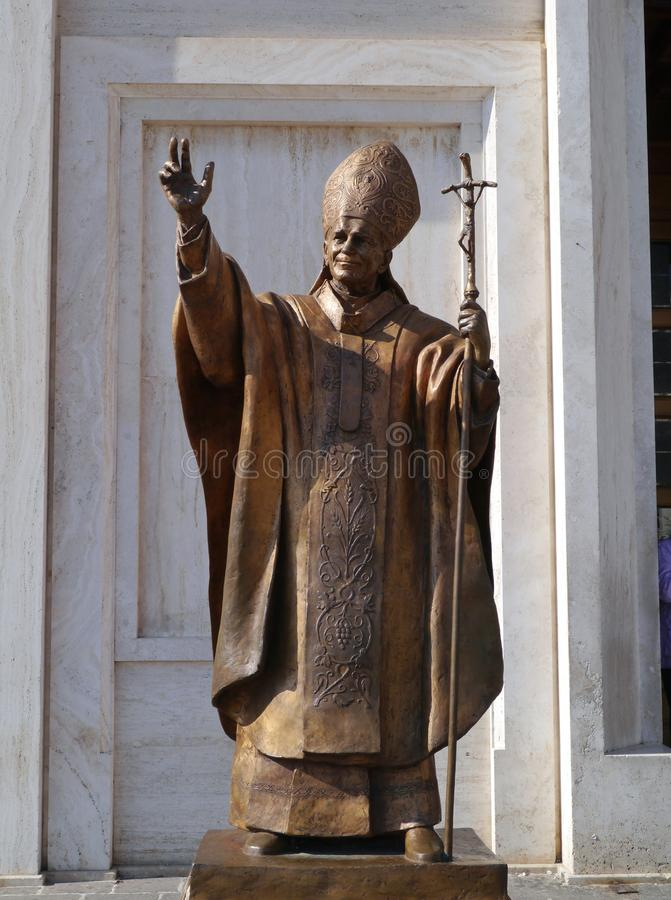 Estátua de Woytyla da papá em Italy imagem de stock