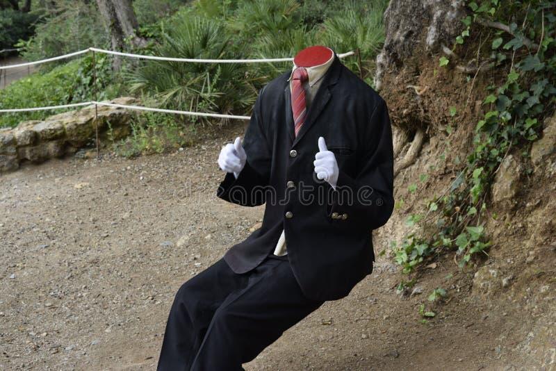 Estátua decapitado do turista fotos de stock