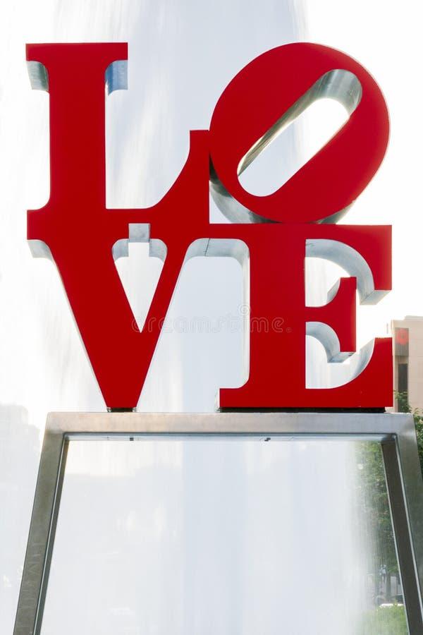 Estátua do amor de Philadelphfia fotografia de stock
