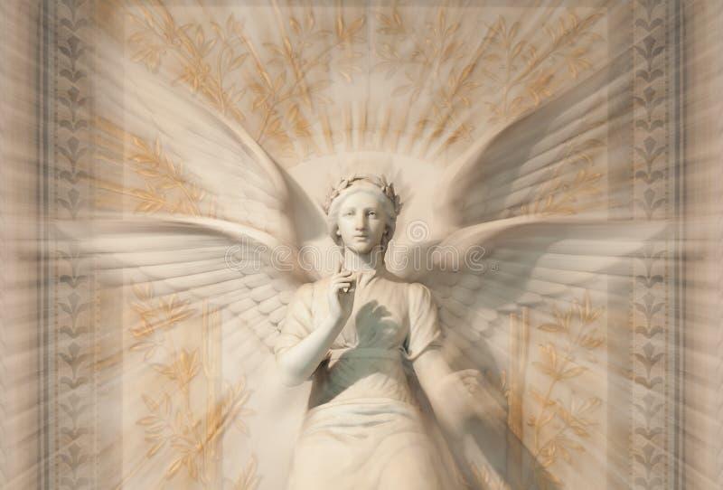Estátua do anjo da mulher. imagem de stock royalty free