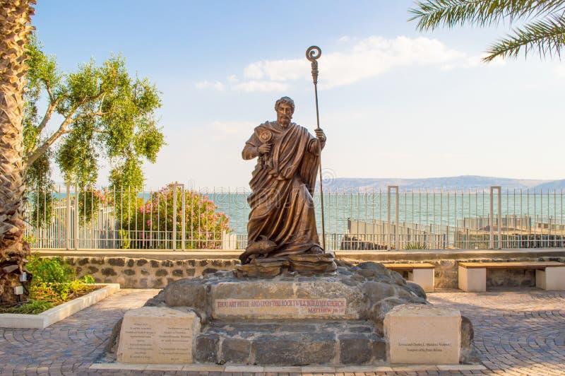 Estátua do apóstolo Peter fotos de stock