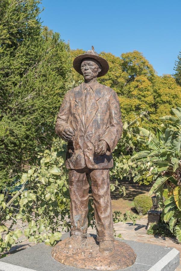 Estátua do capitão Hendrik Samuel Witbooi no Tintenpalast, Wi imagens de stock royalty free