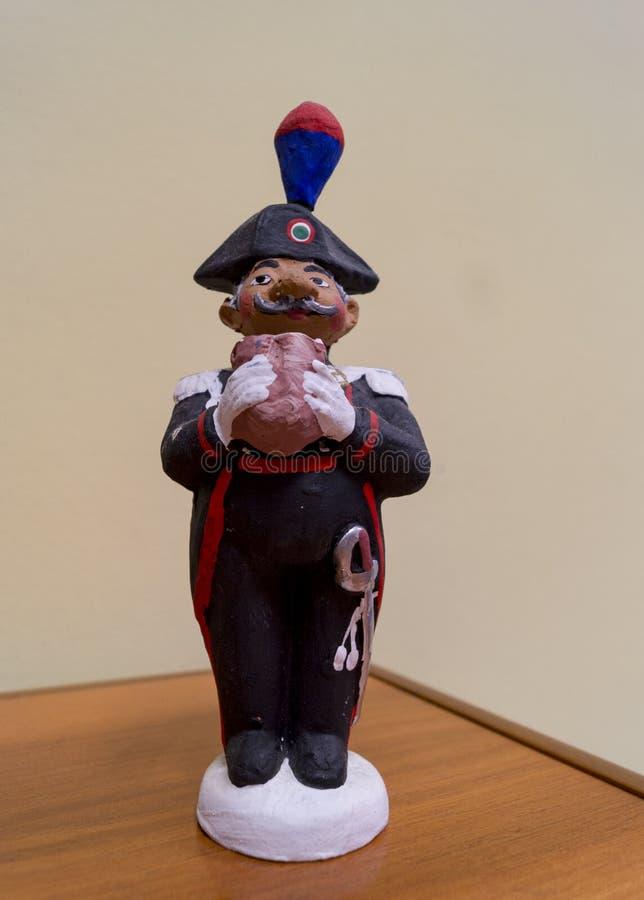 Estátua do Carabiniere imagens de stock royalty free