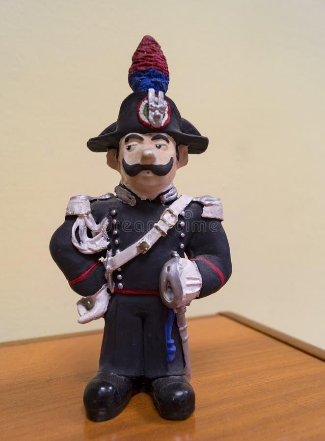 Estátua do Carabiniere fotos de stock