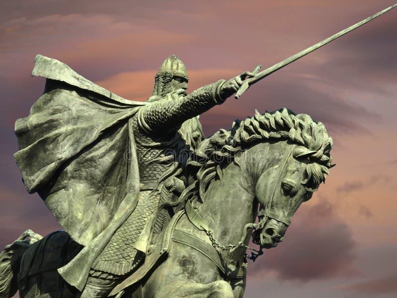 Estátua do cavaleiro Cid em Burgos fotos de stock royalty free