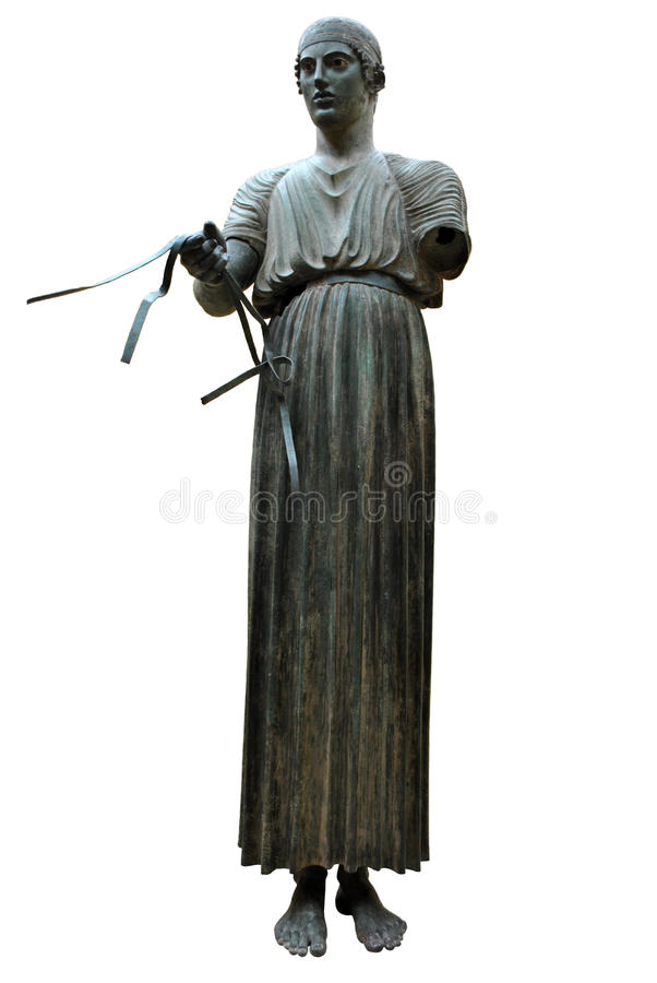 A estátua do charioteer fotos de stock royalty free