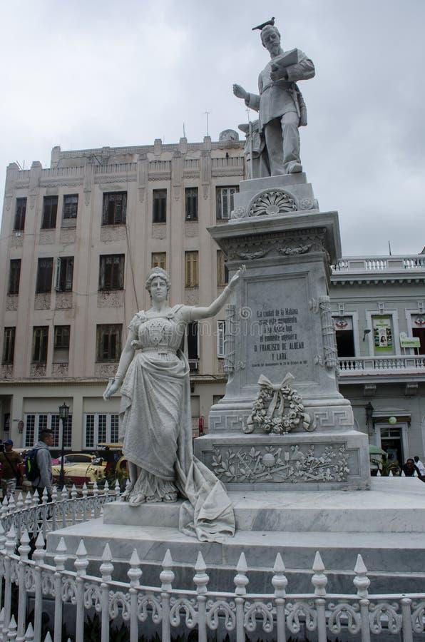 Estátua do coordenador D Francisco de Albear y Lara da escultura que era responsável para o aquaduct de Havanas imagem de stock royalty free