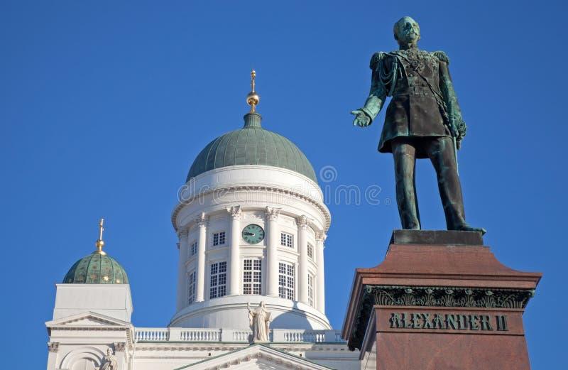 Estátua do czar Alexander do russo II, Helsínquia imagem de stock
