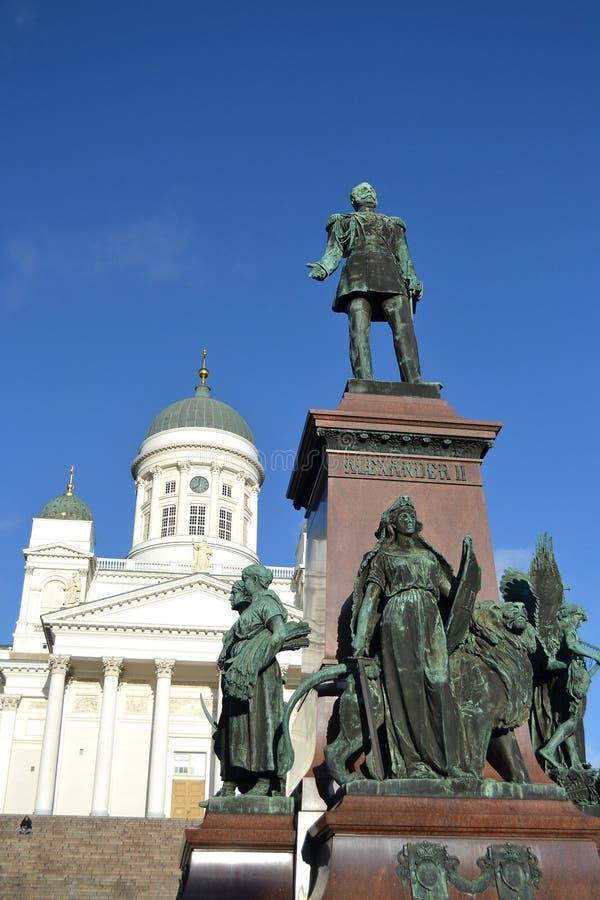 Estátua do czar Alexander do russo II, Helsínquia imagem de stock royalty free
