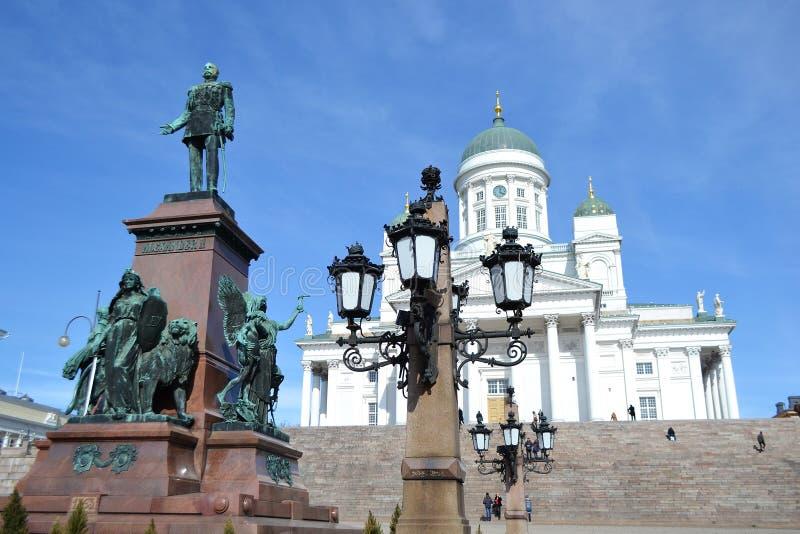 Estátua do czar Alexander do russo II, Helsínquia imagens de stock