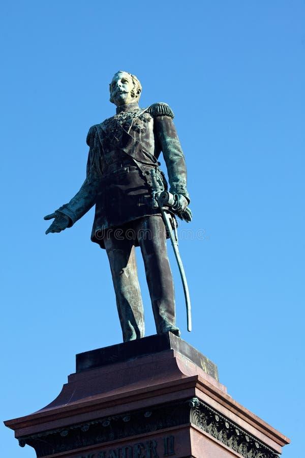 Estátua do czar Alexander do russo II, Helsínquia fotos de stock