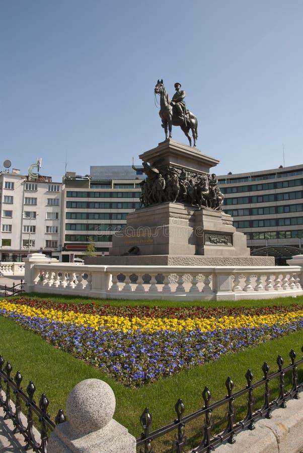 A estátua do czar Alexander II, Sófia, Bulgária imagem de stock royalty free