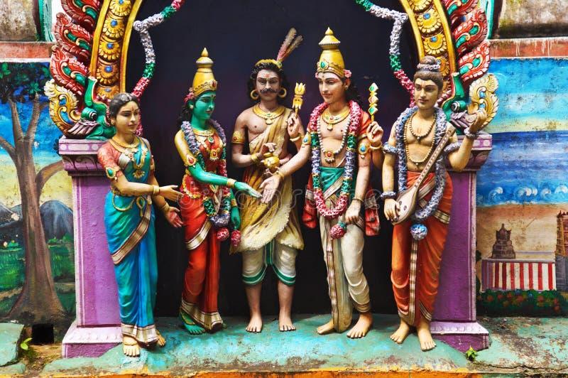 A estátua do deus em Batu desaba, Malaysia imagens de stock royalty free