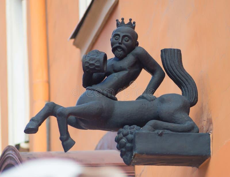 A estátua do deus do vinho fotos de stock