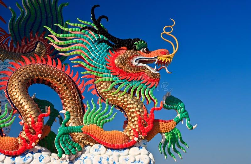 Estátua do dragão do estilo chinês, Tailândia recolhida imagem de stock royalty free