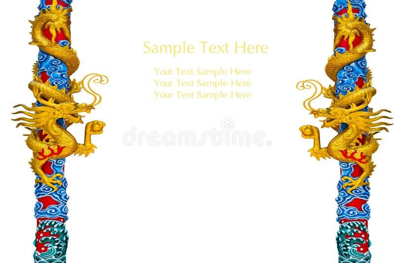 Estátua do dragão na coluna ilustração do vetor