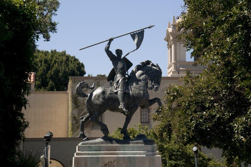 Estátua do EL Cid no parque do balboa imagem de stock royalty free