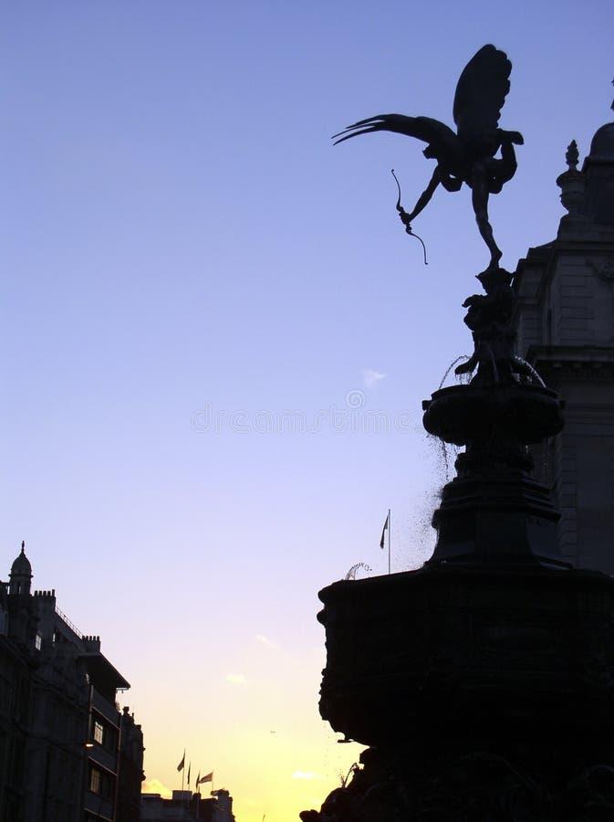 Estátua do Eros, circo de Picadilly fotos de stock