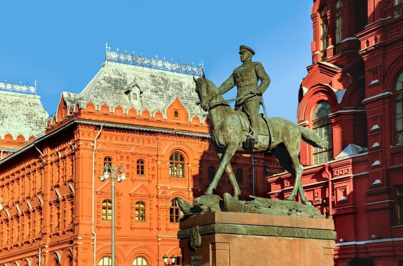 Estátua do general Zhukov a cavalo imagem de stock royalty free